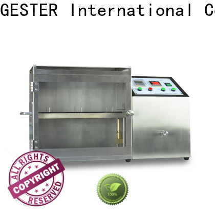 GESTER flame test chamber procedure for fabric