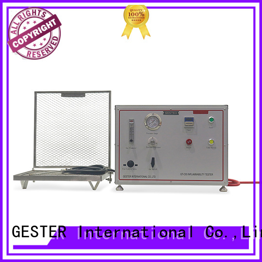 GESTER specific fabric flammability tester procedure for test