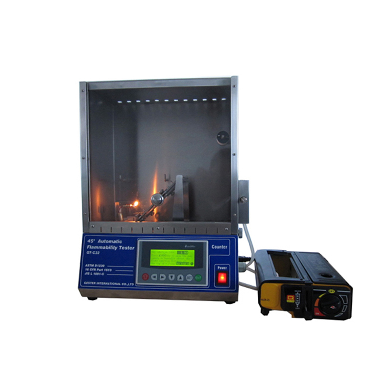45 Degree Flammability Tester ASTM D1230 Test Apparatus GT-C32