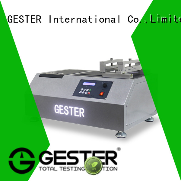 GESTER High Precision abrasion resistance tester supplier for lab